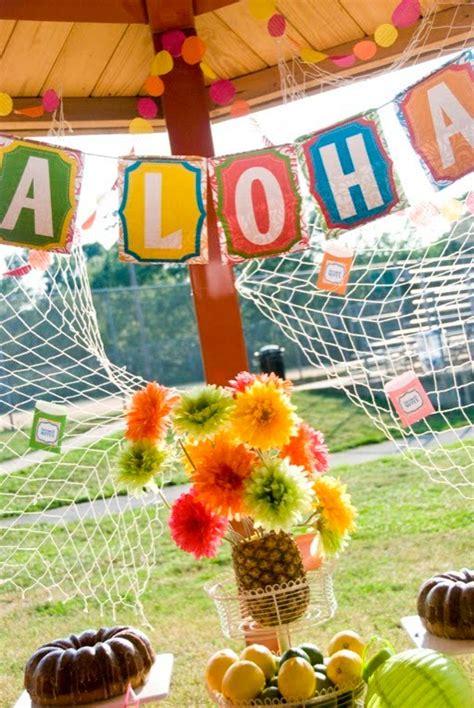 karas party ideas hawaiian farewell luau karas party