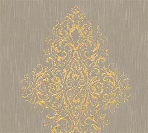 luxury wallpaper mit glasperlen veredelte tapete With markise balkon mit ornament tapete gold