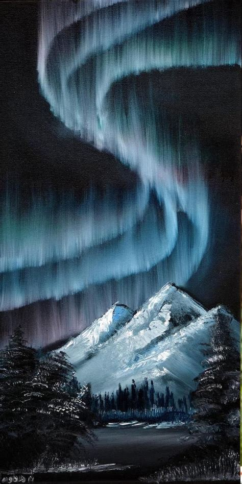 Black backgrounds are easy to create on a blank canvas, in just a few simple steps. 1001+ acrylic painting ideas to fill your spare time with   Northern lights painting, Landscape ...