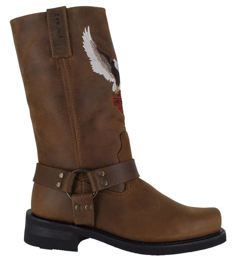 mens brown biker boots harley davidson darren mens brown motorcycle riding eagle