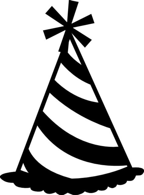 birthday hat clipart black and white birthday hat black and white clipart clipart suggest