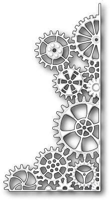 memory box mini gears die cutting dies  stencils