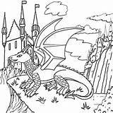 Coloring Dragon Print Cool Magic Pages Fantasy Worksheets Castle Fire Land Puff Lord Wizard Sky Tales Lesson Entertainment sketch template