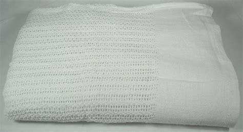 Cotton Thermal Open Weave Blanket 66x90 TWIN White
