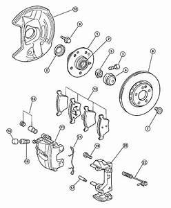Chrysler Crossfire Rotor  Brake  Right Or Left   3 2l V6