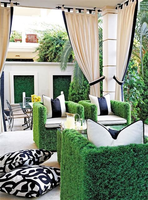 faux grass chairs contemporary deck patio
