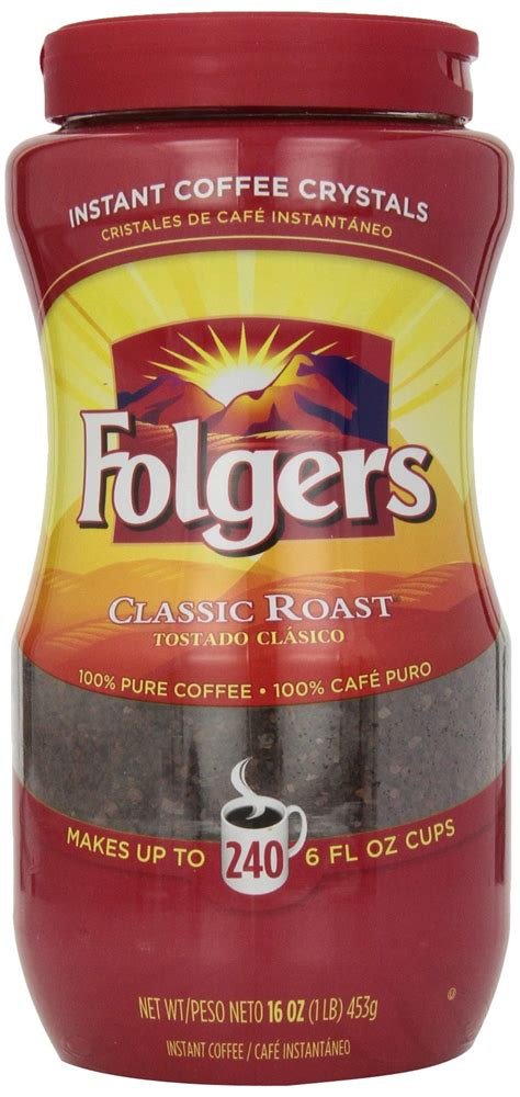 Folgers mocha chocolate flavored cappuccino 16 ounce. Amazon.com : Folgers Classic Roast Instant Coffee, 8 Ounce (Pack of 3) : Grocery & Gourmet Food