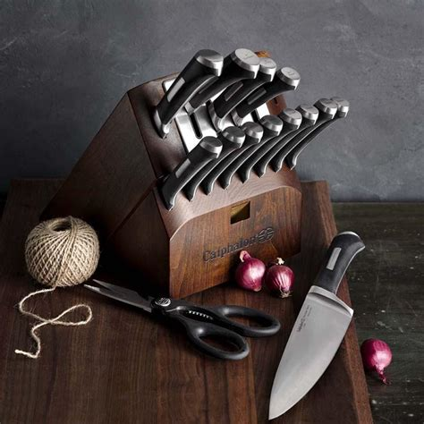 calphalon precision  sharpening  piece knife set williams sonoma au