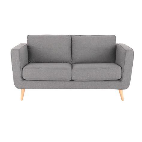 canapé 2 places tissu canapé 2 3 places en tissu gris clair nils maisons du monde