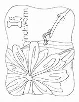 Coloring Letter Inchworm Alphabet Nature Homeschool Inature Related sketch template