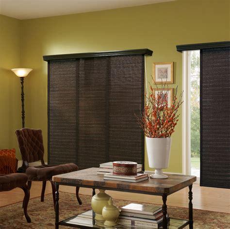 panel track blinds panel track blinds global living room green brown