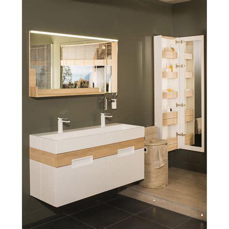 meuble de salle de bains plus de 120 brun marron leroy merlin