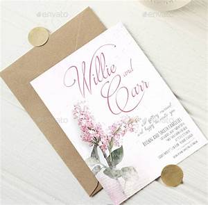 75 high quality wedding invitation card designs psd for Floral wedding invitations psd