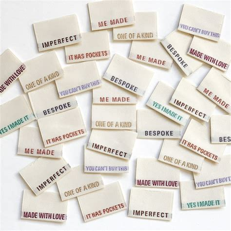 pack   woven labels  kylie   machine limited