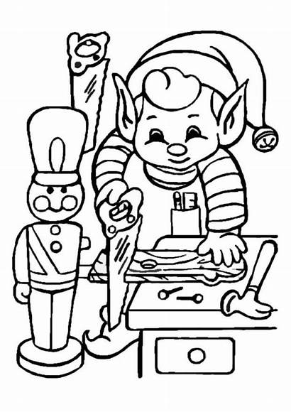 Working Coloring Elf Pages Christmas