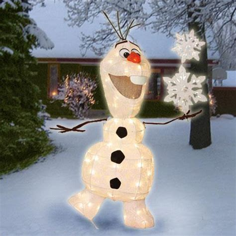 36 quot lighted pre lit disney frozen olaf sculpture outdoor