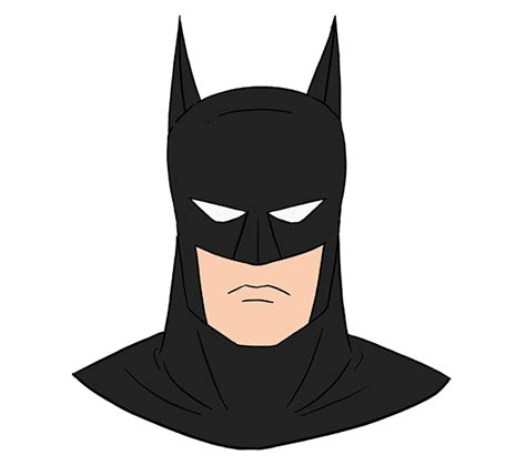 draw batmans head easy drawing guides