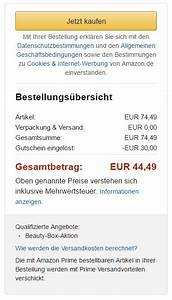 Amazon Prime Rechnung Ausdrucken : 5 euro amazon gutschein kostenlos ~ Themetempest.com Abrechnung