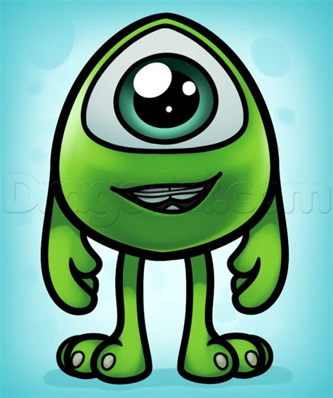 draw baby mike wazowski step  step disney