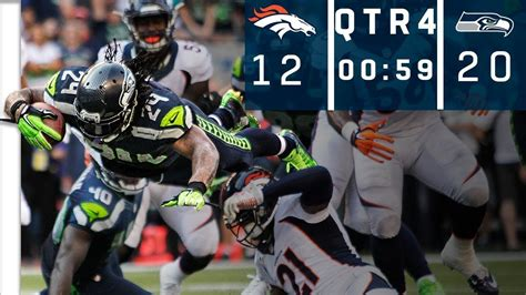 broncos  seahawks manning   ball  seconds