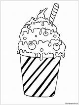 Coloring Pages Milk Cocktail Pancake Sheets Printable Ice Cream Drinks Desserts Adult Housework Sheet Results Categories Panca sketch template