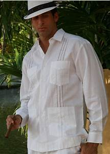 Mens Guayabera style long sleeves. Grooms Guayabera for Men. Linen 100 % Care Cold wash Iron ...