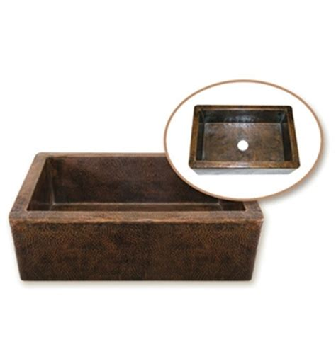copper undermount farmhouse sink houzer hw cop11 farm house undermount single basin hand