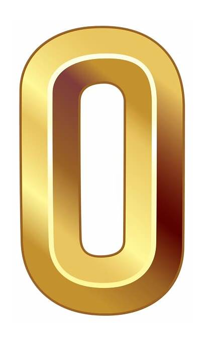 Number Numbers Gold Zero Clipart Transparent 70