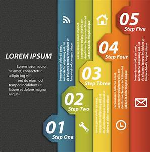 Vertical Tags Vector Illustration Of Sequence Infographic