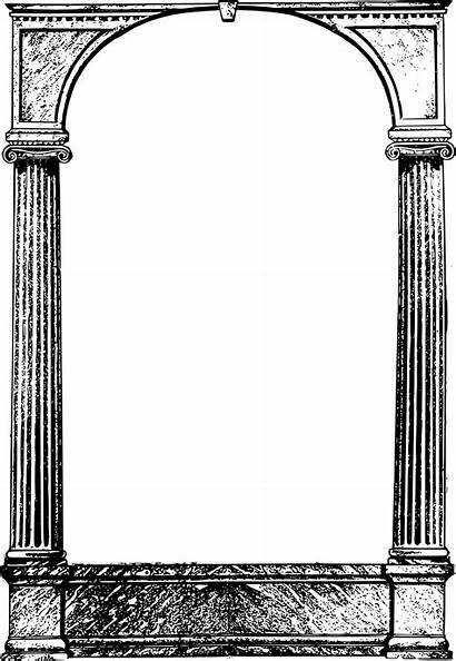 Frame Cool Columns Roman Background Clipart Frames