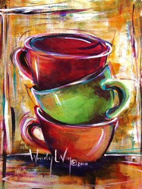 If I Needed More Coffee Cup Paintings Paintings