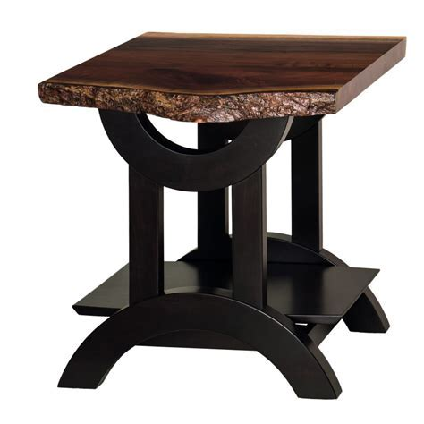 Gateway Live Edge End Table   Amish Crafted Furniture