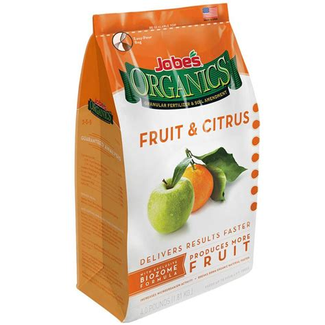 Jobe's Organic 4 Lb Granular Fruit And Citrus Fertilizer