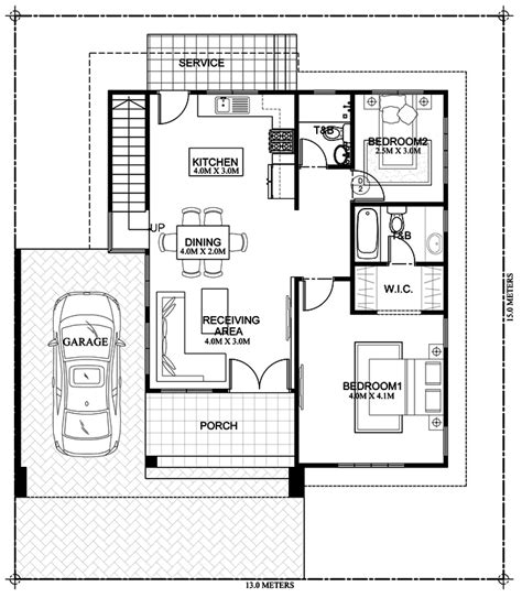 myhouseplanshop double story roof deck house plan designed build square meters