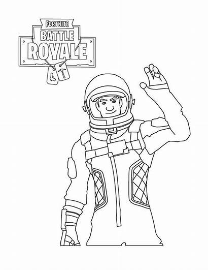 Fortnite Coloring Battle Royale Astronaut Pages Character