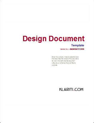 design document ms word template - Design Document
