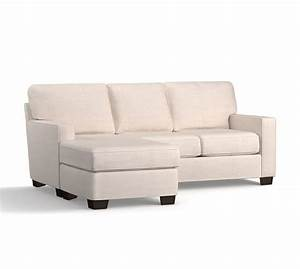 buchanan square arm slipcovered sofa with rev chaise With buchanan sectional sofa pottery barn