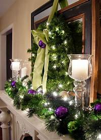 mantel christmas decorations Festive Christmas Mantel Decorating Idea - In My Own Style