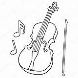 Violin Fiddle Drawing Line Stick Without Getdrawings sketch template