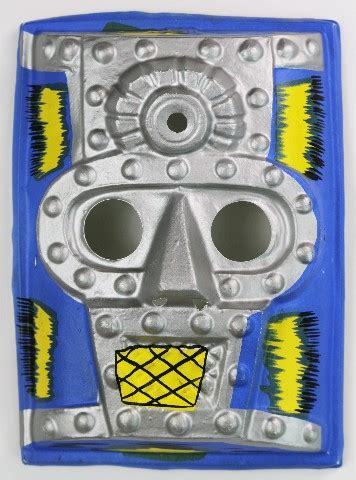 vintage knight halloween mask man   iron mask robot