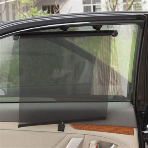 auto retractable black side windshield curtain sun shade