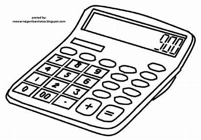 Gambar Mewarnai Kalkulator Sketsa Calculator Coloring Menghitung