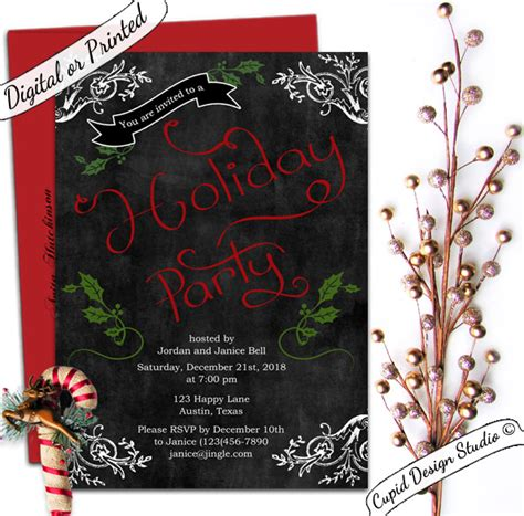 Rustic Chalkboard christmas office holiday party