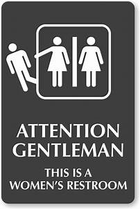 Pics for gt womens bathroom sign for Women only bathroom sign