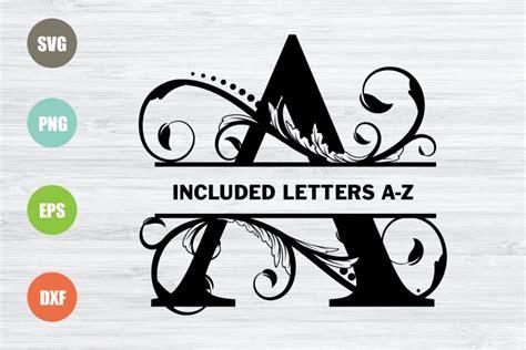 ✓ free for commercial use ✓ high quality images. Split Monogram Letters SVG, Full Alphabet (572454) | SVGs ...