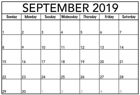 blank september  calendar word printable net market
