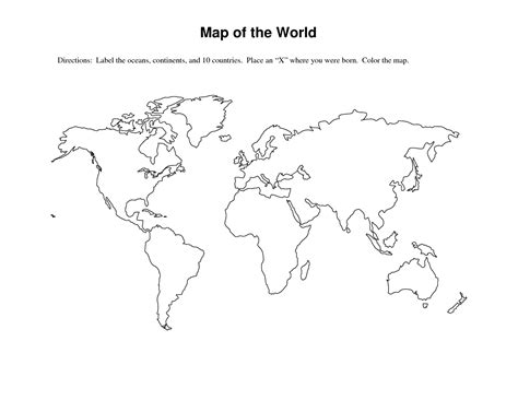 14 best images of me on the map worksheets me on the map