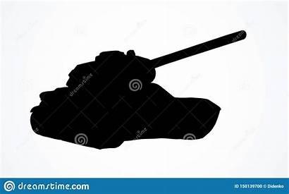 Tank Tekening Dark Drawing Fire Mission Illustratie