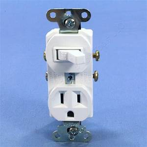 P U0026s White Combo Toggle Light Switch Outlet Receptacle Nema