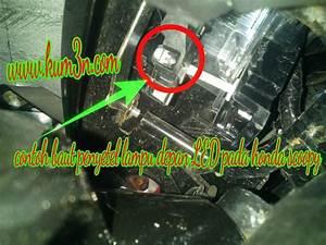 Cara Mudah Menyetel Ketinggian Sorot Lampu Led Motor Honda